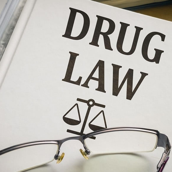 Book showing drug law book